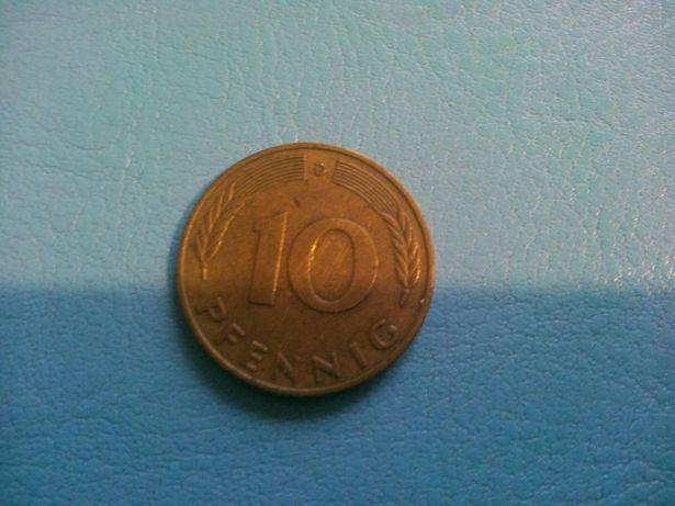Монета Германия1978 г.в 10 pfennig.