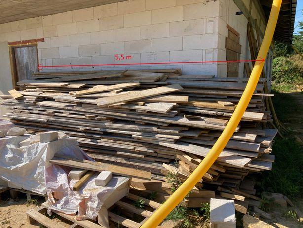 Deski szalunkowe, 1 budowa, oczyszczone! 500 zł.