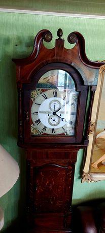 Piękny zabytkowy zegar angielski linkowiec XIX w