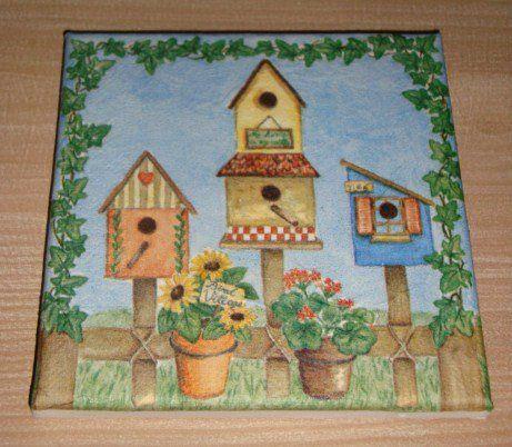 Quadro / Tela - Casa dos Pássaros - NOVO - Baratíssimo
