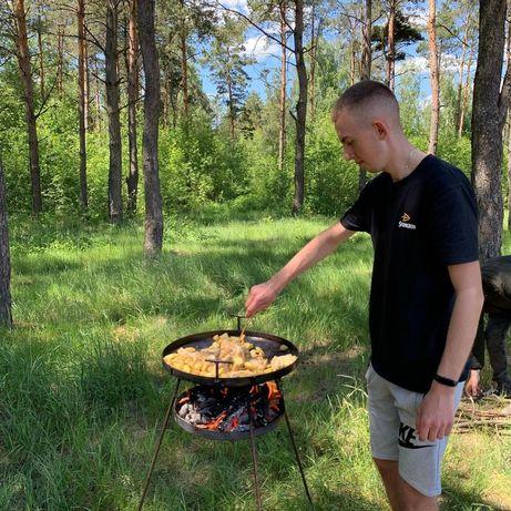 Сковородка с поставкой под дрова подарок для брата свата отца дедушке