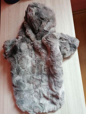 Futerko dla małego psa ubranko futro kurtka