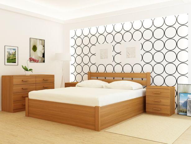 Кровать деревянная Frankfurt PLUS Орех с подъемным механизмом.