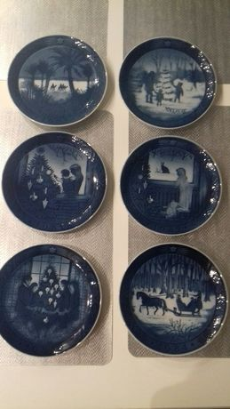 Royal Copenhagen kolekcjonerskie, ozdobne talerzyki duńskie