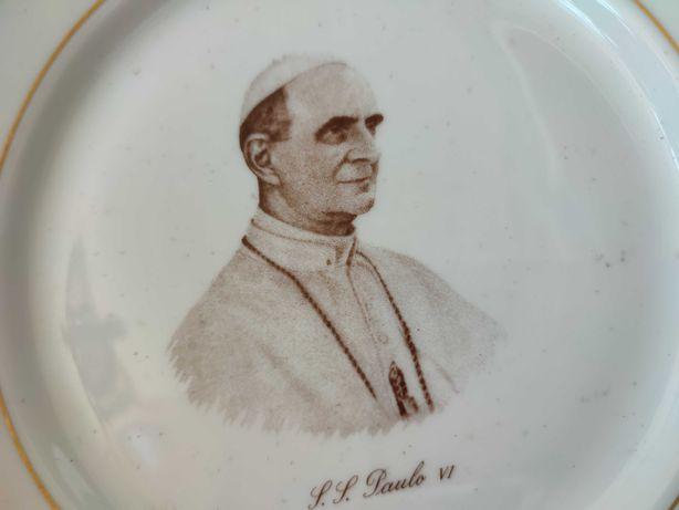 Prato da Vista Alegre Papa Paulo VI, cinquentenário de Fátima. Raro.