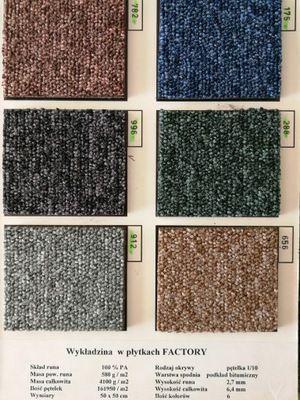 Płytki dywanowe Factory do Biura , Obiektowe W-wa Sklep Montaż