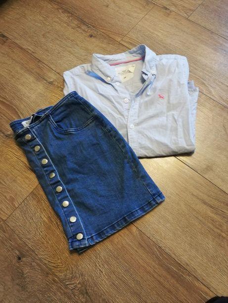 Koszula hm +spódniczka cropp xs