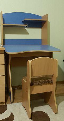 Классная парта + стул регулируемые 1-6 класс