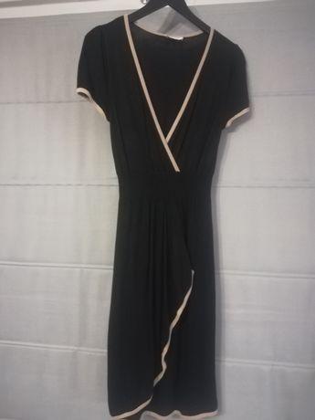 Czarna sukienka ciążowa rozm. M - idealna na nadchodzące Święta!
