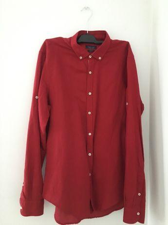 Рубашка Zara Man Slim Fit ( L )