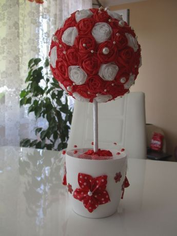 Drzewko, stroik na prezent ślub wesele podziękowania - handmade