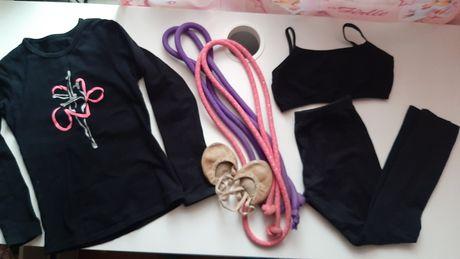 Лот Форма для гимнастики 30 р 5-6 лет Скакалка для гимнастики Sasaki