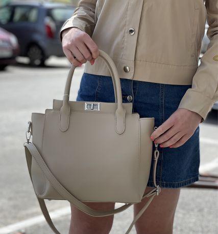 Женская сумка беж
