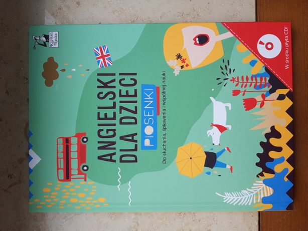 NOWA Kapitan nauka Angielski dla dzieci Piosenki +CD