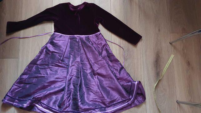 Платье (бархат) на красотку 6-7 лет