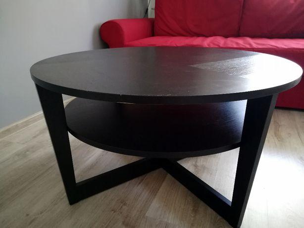 stolik kawowy czarnobrąz śr. 90 cm