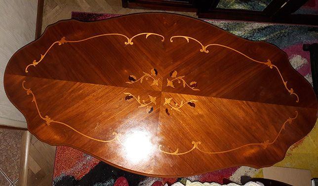 Ława stylowa ,drewniana, antyczna, inkrustowana