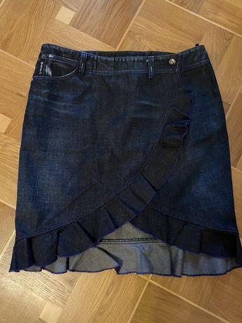 Джинсовая юбка на запах Armani Оригинал