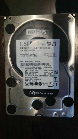 Жесткий диск HDD Western Digital Black, Green 1.5TB, 1TB