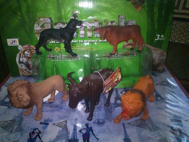 Фигурки.животные дикие,домашние 10-12 см.