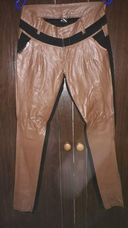 Spodnie z ekoskórą M r.38