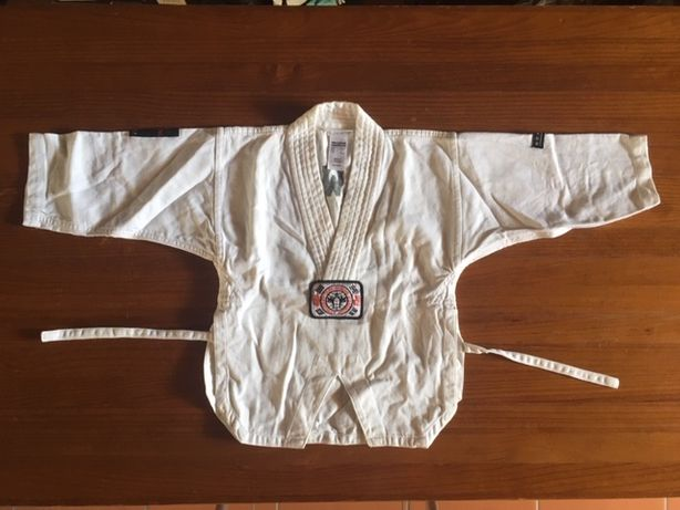 Kimono TAEKWONDO, criança 110 cm, Decathlon