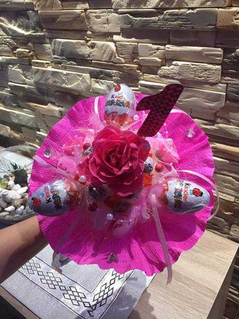 Gotowy bukiecik na urodziny dla dziewczynki