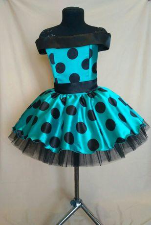 Детское ретро платье. Платье в горох. Стиляги. Платье на выпускной