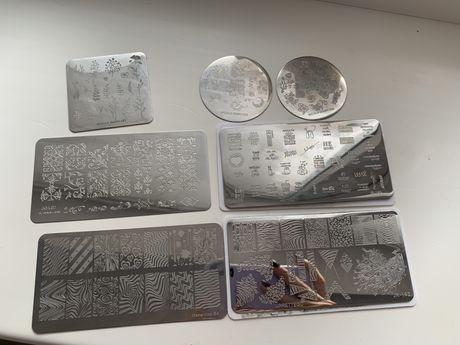 Пластины для стэмпига набор штамповочная пластина