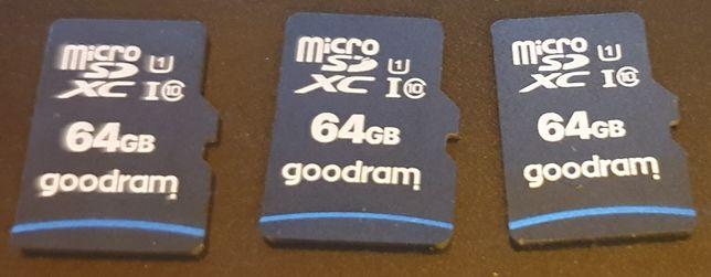 kaarty pamięci 64 GB Goodram