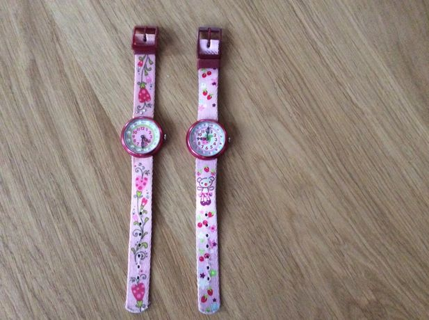 Zegarek flik flak Swatch na rękę dla dziewczynki prezent różowy