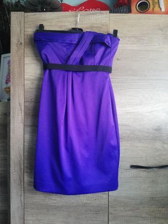 Sukienka fioletowa 36 S