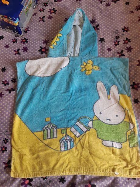 Полотенце детское халат с капюшоном унисекс мальчику девочке уголок