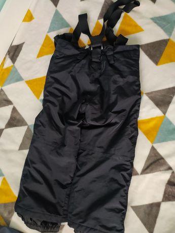 Ocieplane spodnie  na szelkach na zime  narciarskie  lupilu 98/104