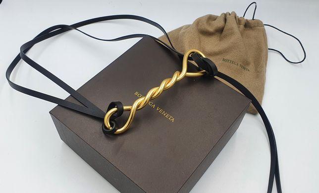 Женский кожаный ремень Bottega Veneta. Оверсайз