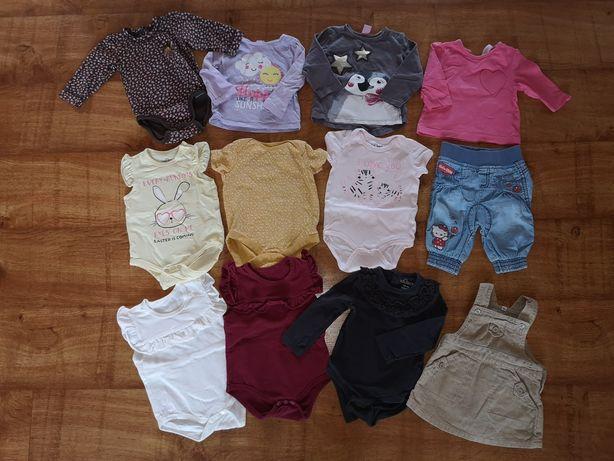 Paka ubrań dla dziewczynki 34 szt. roz. 68