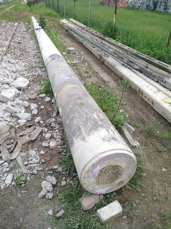 Słup betonowy, Żerdzie wirowane