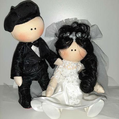 Текстильные куклы ! Парочка жених и невеста!