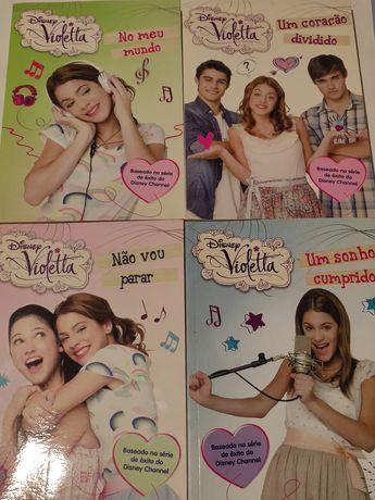 Conjunto de livros da Violetta (Disney)