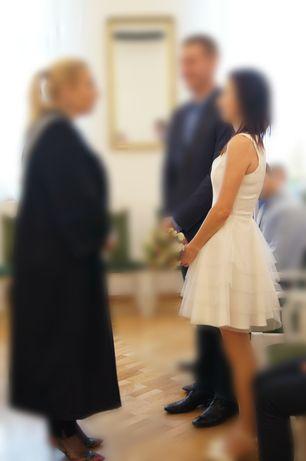 Sukienka ecru rozm 34 xs