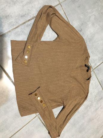 Укороченый свитер в рубчик топ