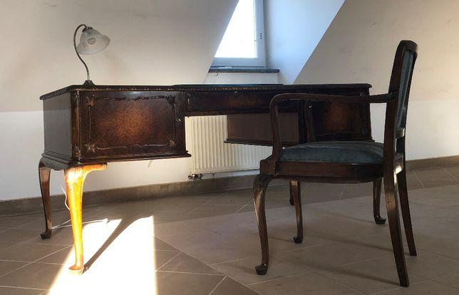 Antyk Biurko Chippendale z krzesłem