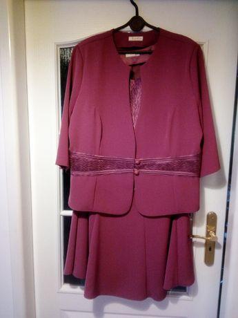 Elegancka garsonka kostium 3-części rozm.52 wesele komunia