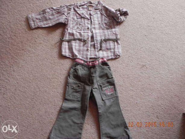 komplet spodnie i bluzka h&m 80, 12-18 msc