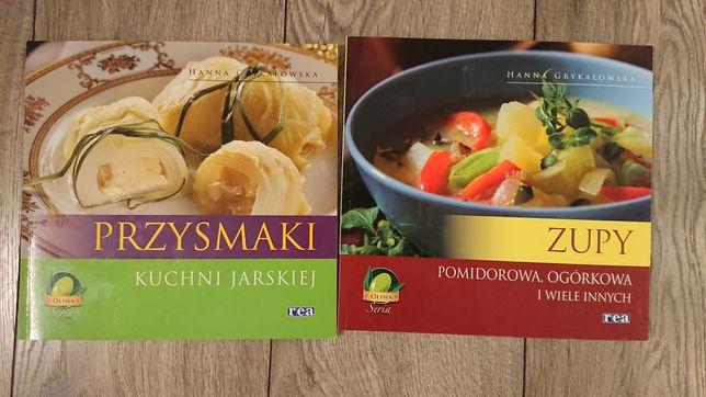 Książki kucharskie zupy kuchnia jarska 2 szt