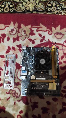 Комплект на FM2+ FM2 сокете a6-6400k ddr3-4gb a68md biostar