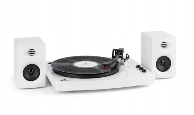 Gramofon AUNA 2 kolumny stereo biały TT-play