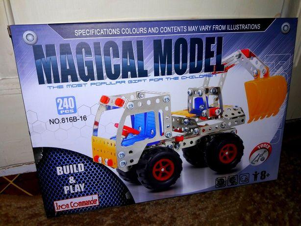Конструктор металлический грузовик.
