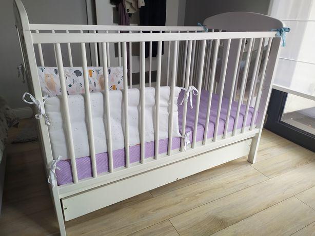 Drewniane łóżeczko dziecięce 60x120