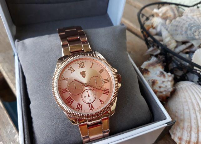 Zegarek na bransolecie AURIOL kolor różowe złoto